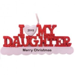 I Love My Daughter Personalized Christmas Ornament