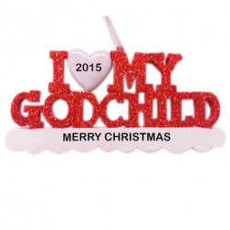 I Love My Godchild Personalized Christmas Ornament