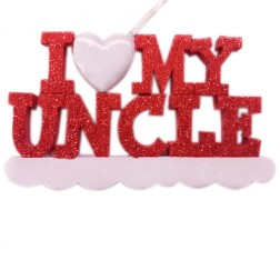I Love My Uncle Personalized Christmas Ornament