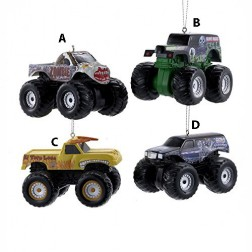 "2.25"" Monster Jam Blow Mold Ornament"