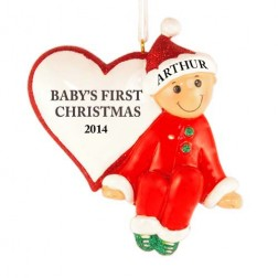 Baby Heart Christmas Personalized Ornament