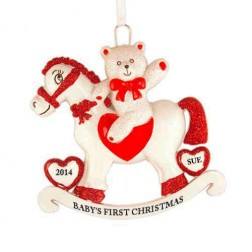 Rocking Horse Christmas Personalized Ornament