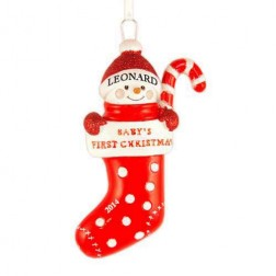 Stocking Baby Christmas Personalized Ornament