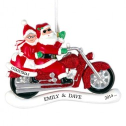 Motor Lover Santa Personalized Christmas Ornament