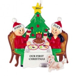 Christmas Dinner Family of 2 Personalized Christmas Ornament