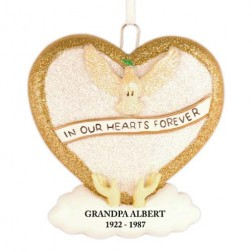 Loving Memory Gold Personalized Christmas Ornament