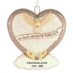 Loving Memory Silver Personalized Christmas Ornament