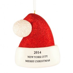 Santa Hat Personalized Christmas Ornament