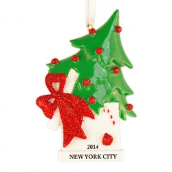 Christmas Tree Surprise Box Personalized Christmas Ornament