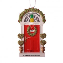Red Door Personalize Christmas Ornament