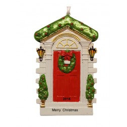Christmas Door - Red Personalized Ornament