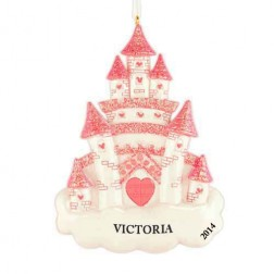 Dream Castle Personalized Christmas Ornament
