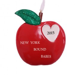 New York Heart  Personalized Christmas Ornament