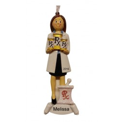 RX Girl Personalized Christmas Ornament