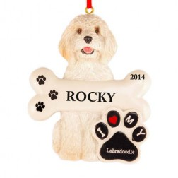 Labradoodle Dog Personlized Christmas Ornament