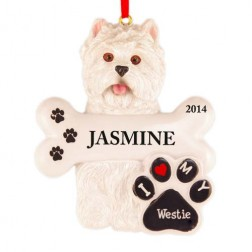 Westie Dog Personalized Christmas Ornament