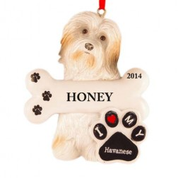 Havanese Dog Personalized Christmas Ornament