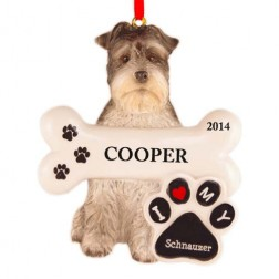 Schnauzer Dog Personalized Christmas Ornament