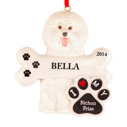 Bichon Frise Dog Personalized Christmas Ornament