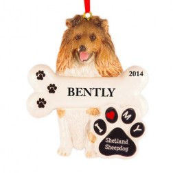 Shetland Sheepdog Personalized Christmas Ornament