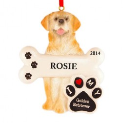 Golden Retriever Dog Personalized Christmas Ornament