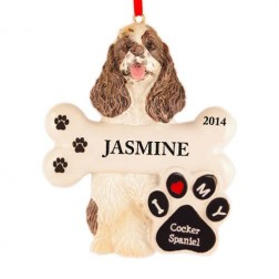 Cocker Spaniel Dog Personalized Christmas Ornament