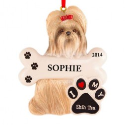 Shih Tzu Dog Personalized Christmas Ornament