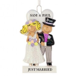 Wedding Couple Personalized Christmas Ornament