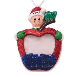 Elf With Photo Frame Ornament