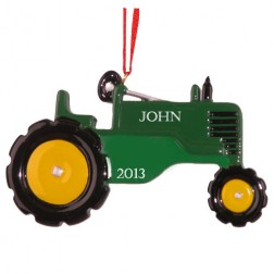 Tracktor Green   Personalized Ornament
