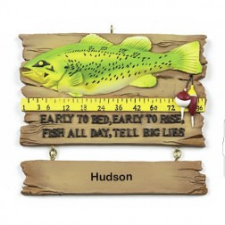 Fish Tales   Personalized Ornament