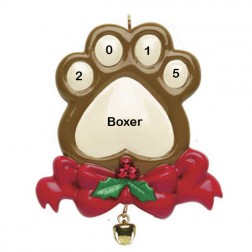 Dog Paw    Personalized Ornament