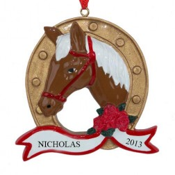 Horseshoe Personalized Christmas Ornament