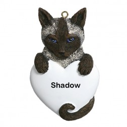Siamese Cat Personalized Christmas Ornament