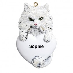 Persian Cat Personalized Christmas Ornament