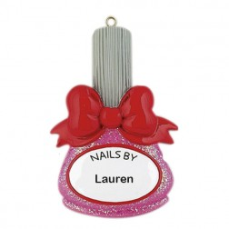 Nails by Personalized Christmas Ornament