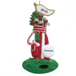 Golf Bag Personalized Christmas Ornament