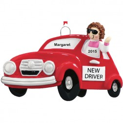 New Driver Girl Personalized Christmas Ornament