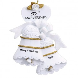 50th Year Anniversary Personalized Christmas Ornament