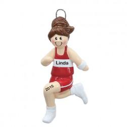 Runner Girl Personalized Christmas Ornament