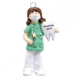 Dentist Women Personalized Christmas Ornament