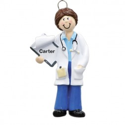 Female Doctor Personalized Christmas Ornament