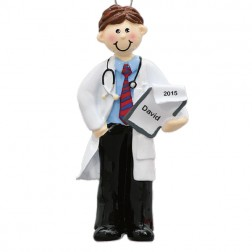 Doctor Man Personalized Christmas Ornament