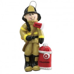 Firefighter Personalized Christmas Ornament