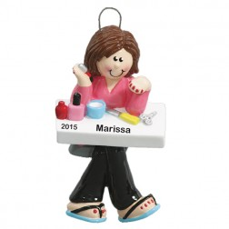 Manicurist Personalized Christmas Ornament