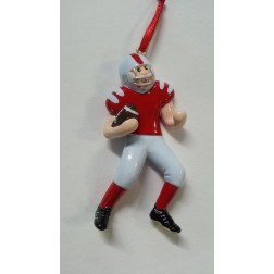 Football Boy Personalized Christmas Ornament