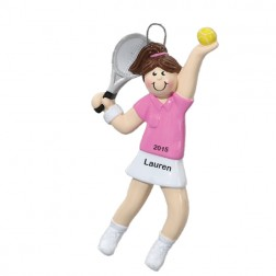 Tennis Girl Personalized Christmas Ornament