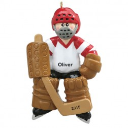 Goalie Personalized Christmas Ornament