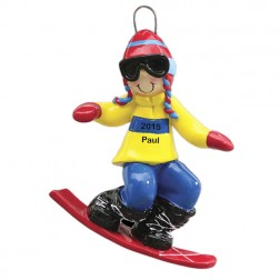 Snowboard Personalized Christmas Ornament