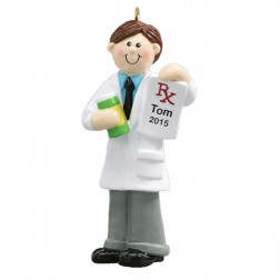 Pharmacist Boy Personalized Christmas Ornament